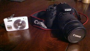 The Chosen, next to Kevin's Canon Rebel