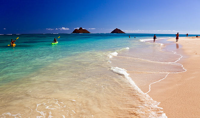 Kailua Beach, Kailua, Oahu, HI. Where my brother-in-law lives. Seriously!