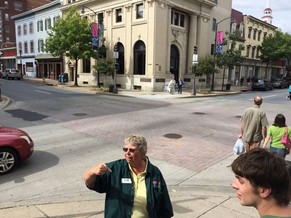 Professor Estilow talks about the intersection of Market St. and Patrick St. in downtown Frederick, once a national crossroads between major north-south and east-west routes.