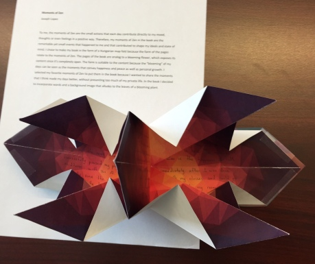 An amazing book from Joseph Lopez, who designed the paper and created a book that opens up like a flower.